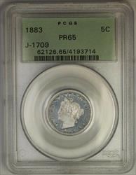 1883 Liberty Nickel Pattern Gem Proof 5c Coin PCGS  OGH J-1709 Judd WW