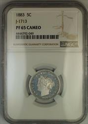 1883 Liberty Nickel Pattern Proof 5c Coin NGC  CAM Cameo J-1713 Judd WW
