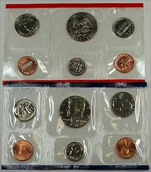 1980 P /& D Mint Set Brilliant Uncirculated US Coins In OGP With Envelope /& COA