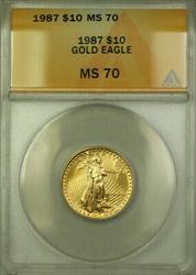 1987  Eagle $10  ANACS