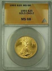 1993 $25 American  AGE 1/2 Oz ANACS