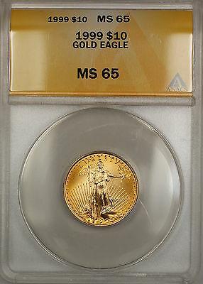 1999 $10 American  AGE 1/4 Oz ANACS Gem SB