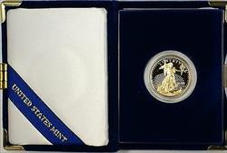 1999 W $25 Ten  1/2 Oz. Proof American  Eagle AGE  as Issued