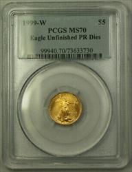 1999 W $5  AGE PCGS Unfinished PR Dies Emergency Issue