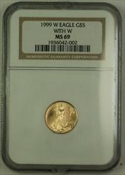 1999 W Emergency Issue $5 American  Eagle AGE  NGC Near Perfect