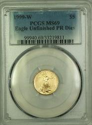 1999 W Emergency Issue $5 American  PCGS Unfinished PR Dies