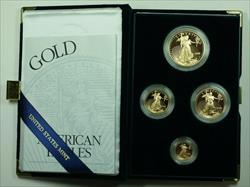2000 American Eagle  Proof 4  Set AGE in Box w/ COA