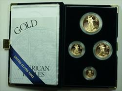 2000 American Eagle  Proof 4  Set AGE in Box w/ COA