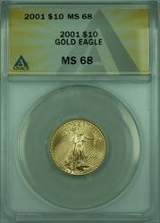 2001 American  Eagle $10  1/4th Oz AGE ANACS
