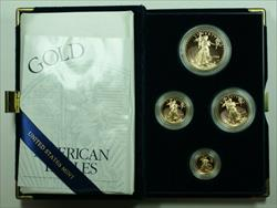 2001 American Eagle  Proof 4  Set AGE in Box w/ COA