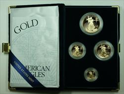 2002 American Eagle  Proof 4  Set AGE in Box w/ COA