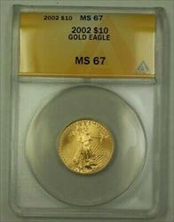 2002 US $10 Ten  American  AGE 1/4 Oz ANACS