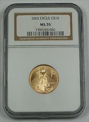 2003 $10 1/4 Oz American  NGC AGE