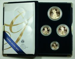 2004 American Eagle  Proof 4  Set AGE in Box w/ COA