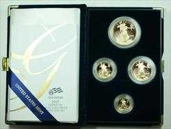 2005 American Eagle  Proof 4  Set AGE in Box w/ COA