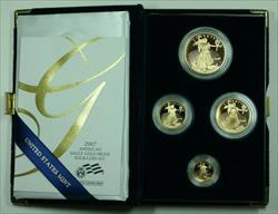 2007 American Eagle  Proof 4  Set AGE in Box w/ COA
