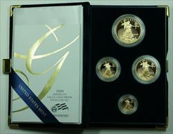 2008 American Eagle  Proof 4  Set AGE in Box w/ COA