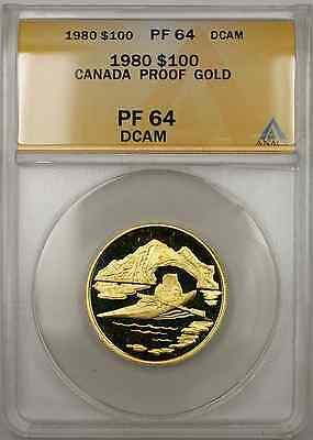 1980 Proof Canada Arctic 1/2 oz   $100 ANACS DCAM (A AMT)