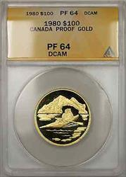 1980 Proof Canada Arctic 1/2 oz   $100 ANACS DCAM (B AMT)