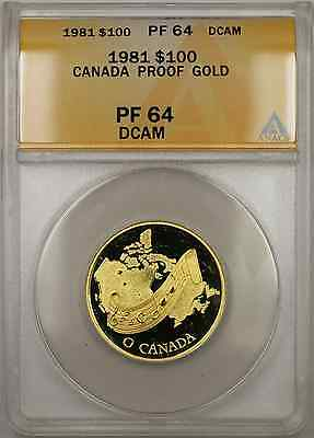 1981 Proof Canada National Anthem 1/2 oz   $100 ANACS DCAM (AMT)