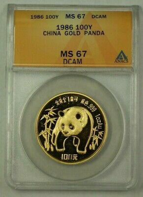 1987 y China 100Y  Panda  ANACS DCAM Deep Cameo