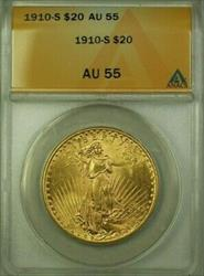 1910 S US St. Gaudens Double Eagle $20   ANACS (WW)