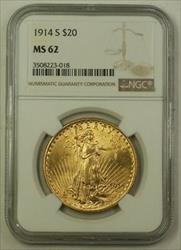 1914 S US St. Gaudens Double Eagle $20   NGC