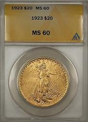 1923 $20  St. Gaudens Double Eagle   ANACS BP