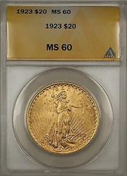 1923 $20  St. Gaudens Double Eagle   ANACS BP