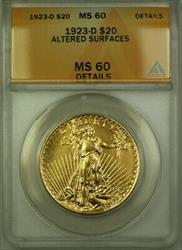 1923 D St Gaudens Double Eagle  $20  ANACS Details