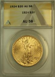 1924 St. Gaudens $20 Double Eagle   ANACS
