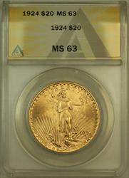 1924 St. Gaudens $20 Double Eagle   ANACS