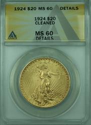 1924 St. Gaudens $20 Double Eagle   ANACS Details