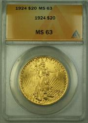 1924 St. Gaudens Double Eagle $20   ANACS