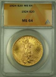 1924 St. Gaudens Double Eagle $20   ANACS (B)