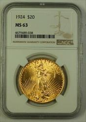 1924 US St. Gaudens $20 Double Eagle   NGC A
