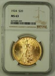 1924 US St. Gaudens $20 Double Eagle   NGC B