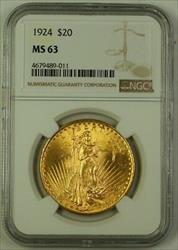 1924 US St. Gaudens $20 Double Eagle   NGC C