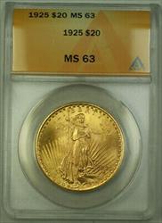 1925 St. Gaudens Double Eagle $20   ANACS (B)