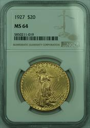 1927 St. Gaudens $20 Double Eagle   NGC