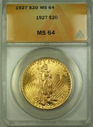 1927 St. Gaudens Double Eagle $20   ANACS