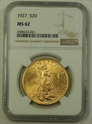 1927 US St. Gaudens Double Eagle $20   NGC (Better)