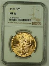 1927 US St. Gaudens Double Eagle $20   NGC (Better) E
