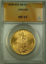 1928 St. Gaudens Double Eagle $20   ANACS