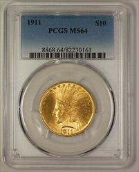 1911 US Indian $10  PCGS (Gem) (JS)