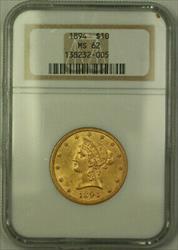 1894 Liberty $10 Ten   NGC (A)