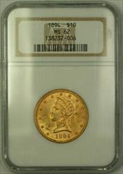 1894 Liberty $10 Ten   NGC (B)