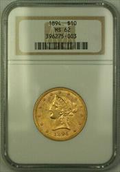 1894 Liberty $10 Ten   NGC (C)