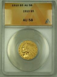 1910 $5 Indian Half Eagle   ANACS KRC