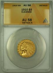 1910 Indian  Half Eagle $5  ANACS Details